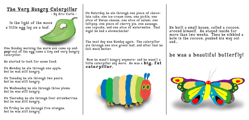 graphic regarding The Very Hungry Caterpillar Story Printable named TAS Preschool Workspace / The Incredibly Hungry Caterpillar